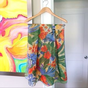 "VINTAGE ""Golden Girls"" Hawaiian Floral Scarf"